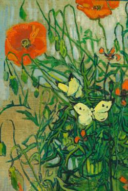 Butterflies and Poppies by Van Gogh People