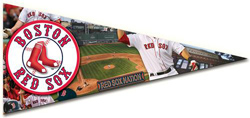 Pennant - Red Sox Sports Shaped