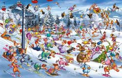 Christmas Skiing Christmas Jigsaw Puzzle