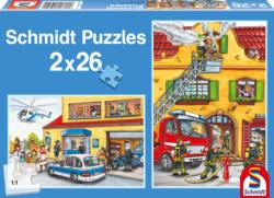 Fire Brigade Police Cartoons Multi-Pack