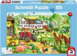 Merry Farmyard Cartoons Children's Puzzles