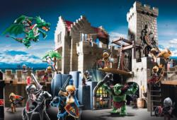 The Battle for the King's Treasure (Playmobil) Horses Jigsaw Puzzle