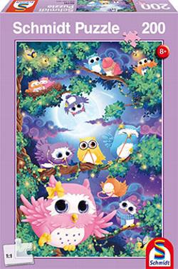 Owl Woods Cartoons Jigsaw Puzzle