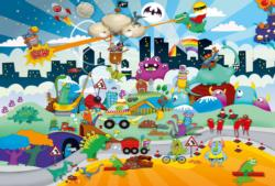 Miniature Heroes Cartoons Children's Puzzles