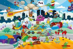 Miniature Heroes Cartoons Jigsaw Puzzle