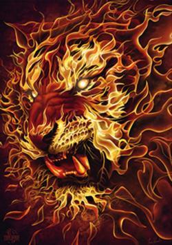 Fire Tiger Tigers Jigsaw Puzzle