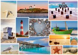 By the Sea Sunrise / Sunset Jigsaw Puzzle