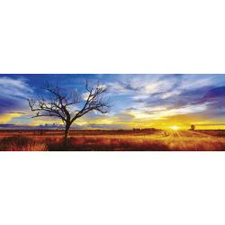 Desert Oak at Sunset Sunrise / Sunset Panoramic Puzzle