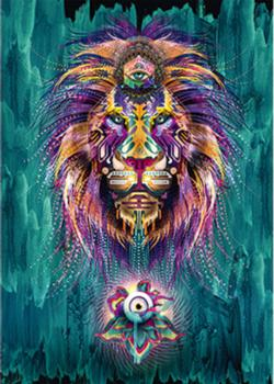 Luminescent lion Cultural Art Jigsaw Puzzle