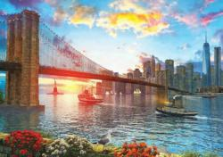 Sunset On New York - Scratch and Dent New York Jigsaw Puzzle