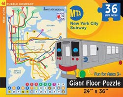 Transit Maps - New York City (MTA) - Floor New York Children's Puzzles