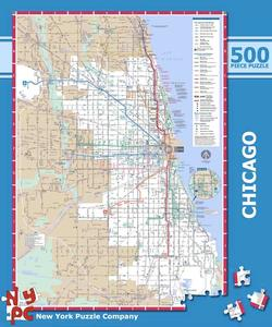 Chicago Subway Maps Jigsaw Puzzle