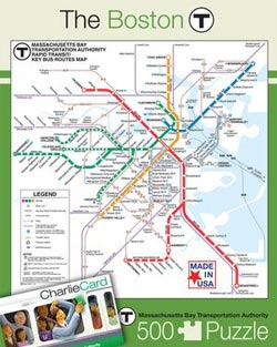 The Boston T (Transit Maps) Boston Jigsaw Puzzle