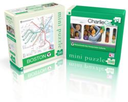 Boston T (Mini) Maps / Geography Jigsaw Puzzle