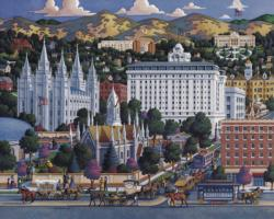Salt Lake City Americana & Folk Art Jigsaw Puzzle