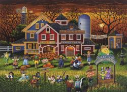 Scarecrow Festival Halloween Jigsaw Puzzle