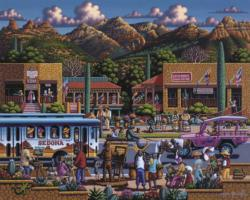 Sedona Folk Art Jigsaw Puzzle