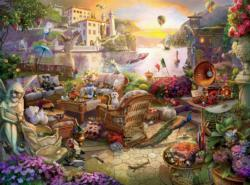 Italian Terrace (Seek and Find) Italy Jigsaw Puzzle