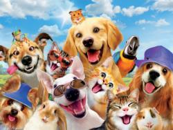 Selfie Summer Fun (Selfies) Dogs Jigsaw Puzzle