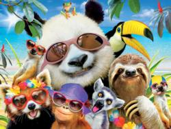 Beach Party Panda (Selfies) Animals Jigsaw Puzzle