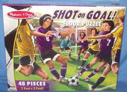 Shot on Goal - Floor Sports Jigsaw Puzzle