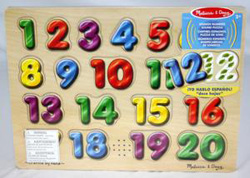 Sound Puzzle - Spanish Numbers Math Children's Puzzles