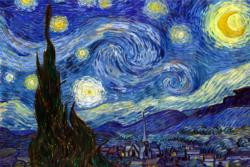 Starry Night by Van Gogh People