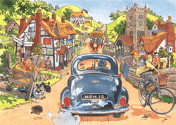 Wasgij Original #1 - Sunday Drivers - 500 Wasgij Jigsaw Puzzle