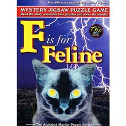 F is for Feline (Mystery Puzzle) Murder Mystery Jigsaw Puzzle