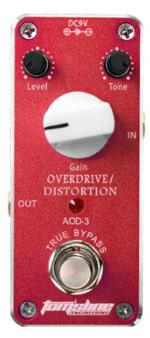 Tomsline Overdrive/Distortion True Bypass Mini Guitar Effect Pedal