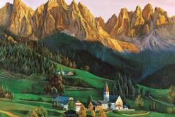 Fantastic Scene Mountains Jigsaw Puzzle