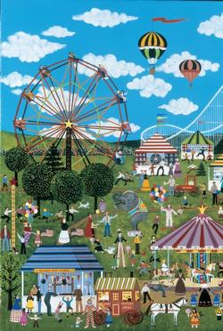 Carnival Time in Willow Bend Folk Art Jigsaw Puzzle