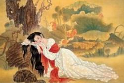Sleeping Beauty Asian Art Jigsaw Puzzle