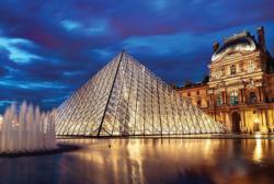 Louvre Pyramid, Paris, France Paris Jigsaw Puzzle