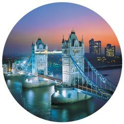 Shaped Puzzle - Tower Bridge London Round Jigsaw Puzzle