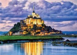 Mont St. Michel, France Lakes / Rivers / Streams Jigsaw Puzzle