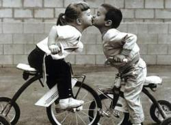 Tricycle Kiss Valentine's Day Jigsaw Puzzle