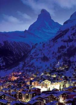 Night in Zermatt Winter Jigsaw Puzzle