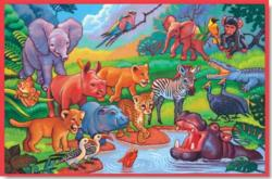 Story time at the Waterpool Jungle Animals Children's Puzzles