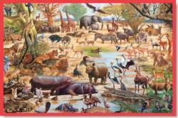 African Paradise Jungle Animals Children's Puzzles