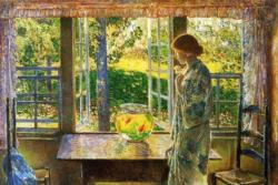 The Goldfish in the Window by Childe Hassam People