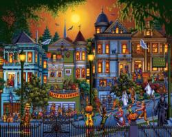 Trick or Treat Folk Art Jigsaw Puzzle