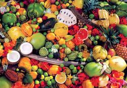 Tropical Fruits (Colorluxe) Food and Drink Jigsaw Puzzle