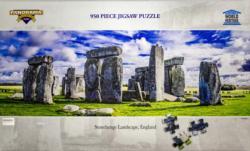 Stonehenge Landscape, England Monuments / Landmarks Panoramic Puzzle