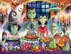 Monster's Banquet Halloween Jigsaw Puzzle