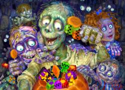 Zombies Like Candy Halloween Jigsaw Puzzle