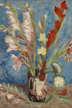 Vase with Gladioli and Chinese Asters by Van Gogh People