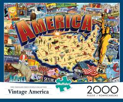 Vintage America - Scratch and Dent United States Jigsaw Puzzle