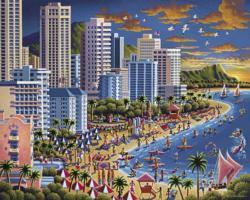 Waikiki Hawaii Jigsaw Puzzle