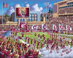 Washington State Cougars Football Jigsaw Puzzle